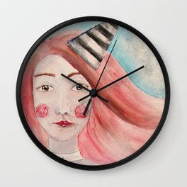 Pierrot Girl Wall Clock