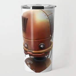 The wierd cute steampunk robot Travel Mug