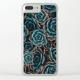Succulent Pattern Flora Clear iPhone Case