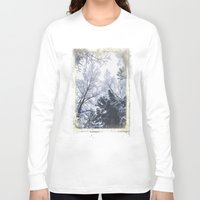 cities Long Sleeve T-shirts featuring Scared cities by HappyMelvin