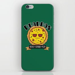 Deadpan - Really Serious Pizza iPhone Skin