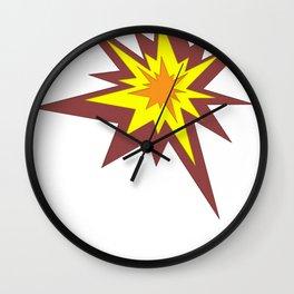 Explosion! Wall Clock