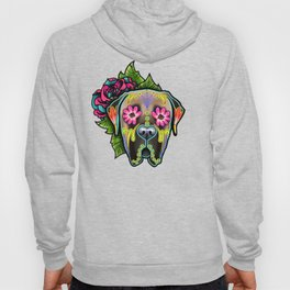 Mastiff in Fawn - Day of the Dead Sugar Skull Dog Hoody