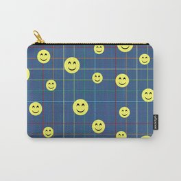 Colorful Smiley Emoji 5 - dark blue Carry-All Pouch