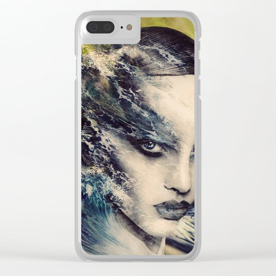 THE STORY OF A LACING WAVE Clear iPhone Case