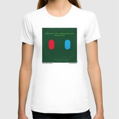 No093 My The Matrix minimal movie poster White Womens Fitted Tee SMALL