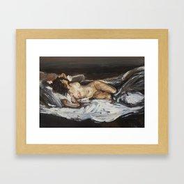 Lying Nude Framed Art Print