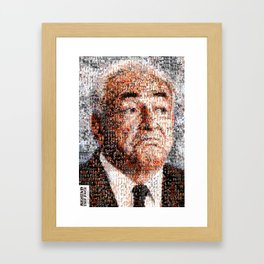 BEHIND THE FACE Dominique Strauss-Kahn | sexy girls Framed Art Print