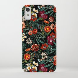 Marijuana and Floral Pattern iPhone Case