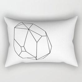 geometric crystal plain Rectangular Pillow