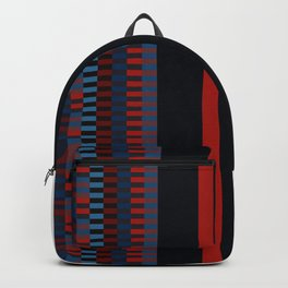 Checkered Ethnic Mosaic Pattern Backpack