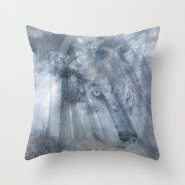 Wolf Spirit  Throw Pillow