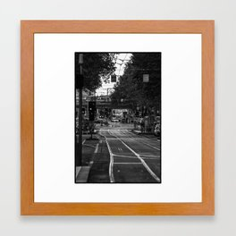 If you go down this way...(Flinders St, 2012) 1/2 Framed Art Print