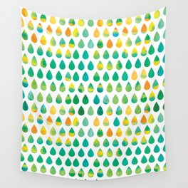 Monsoon Rain Wall Tapestry