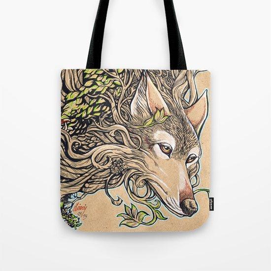 Dog of the Mountain - Honshu Wolf Tote Bag