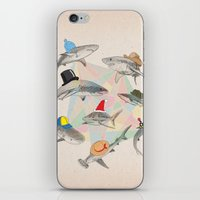 hats iPhone & iPod Skins featuring Hats On by Matisse Lin