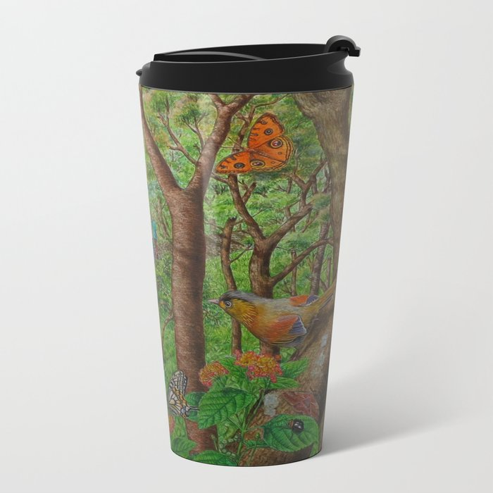A Day of Forest (1). (walk into the forest) Metal Travel Mug