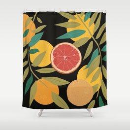 Black Grapefruit Shower Curtain