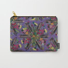 bohemian posy violet Carry-All Pouch