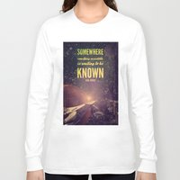 sagan Long Sleeve T-shirts featuring Space Exploration (Carl Sagan Quote) by taudalpoiart