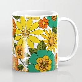 Even groovier flowers Turquoise Coffee Mug