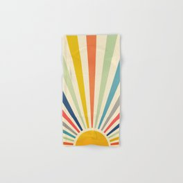 Sun Retro Art III Hand & Bath Towel