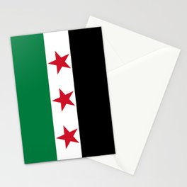 Independence flag of Syria Stationery Cards
