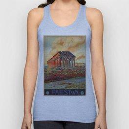 Paestum ancient Greek temple Unisex Tank Top