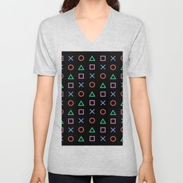 Classic Play Station Controller Buttons Unisex V-Neck