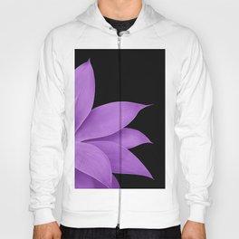 Agave Finesse #10 - Purple on Black #tropical #decor #art #society6 Hoody