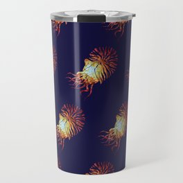 Blue Nautilus pattern Travel Mug