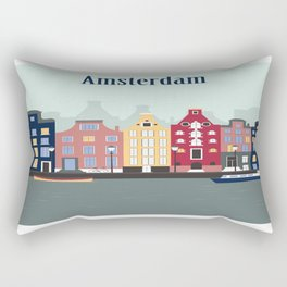 Amsterdam Illu Rectangular Pillow