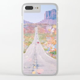 Desert Flowers Clear iPhone Case