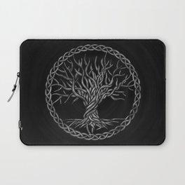 Tree of life -Yggdrasil -grayscale Laptop Sleeve