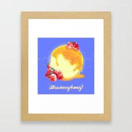 Strawberry Honey Moon Framed Art Print