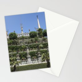 Gardens of Borromeo Palace on Isola Bella, Stresa,Italy. Stationery Cards