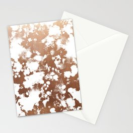 Rose Gold shiny metal sparkle modern pattern abstract rosegold trendy pattern cell phone accessories Stationery Cards