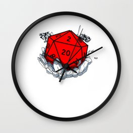 Gamer Dungeon RPG dice tabletop funny gift Wall Clock