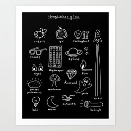 Things that Glow Art Print