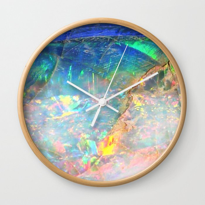 Ocean Opal Wall Clock By Thequarry Society6
