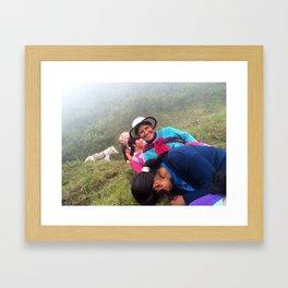 Conversations in Ecuador Framed Art Print