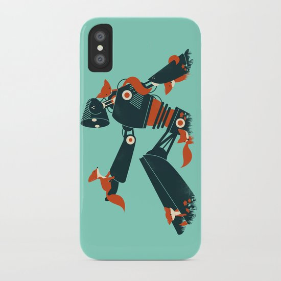 Foxes & The Robot iPhone Case