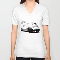 mini cooper V-neck T-shirts featuring Hartge Mini Cooper S by zero2sixty