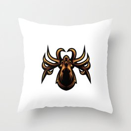 Head Spider Mascot Logo E Sport Design Throw Pillow