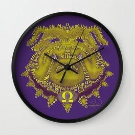 Omega Psi Phi Wall Clock