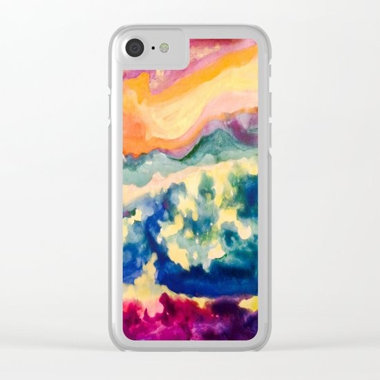 My Starry Watercolor Night Clear iPhone Case