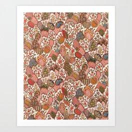 Oberkampf & Cie. Block Printed Textile Pattern, 1792 Art Print