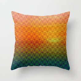 A World of Hearts Throw Pillow