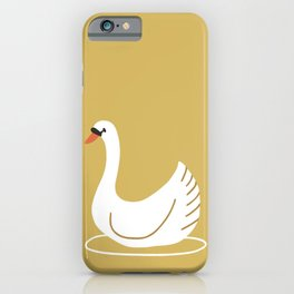 Happy swan iPhone Case
