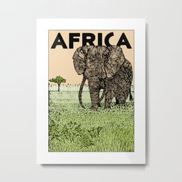AFRICA (African Elephant) Metal Print